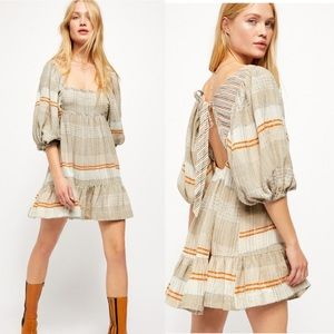 Free People All Lined Up Mini Dress